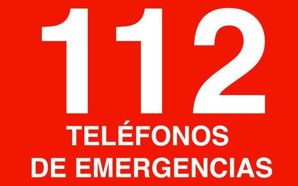Teléfono 112.