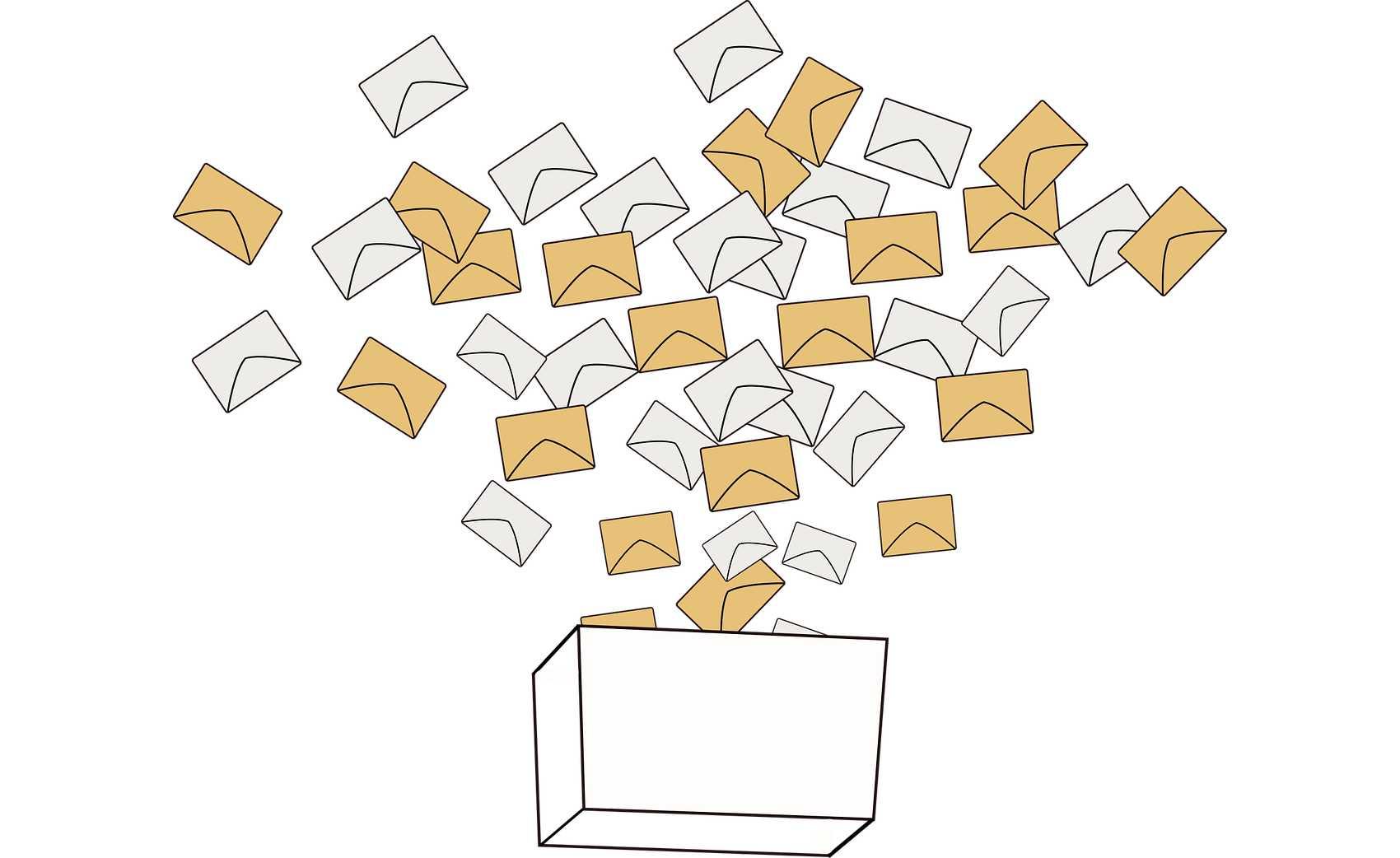 Dibujo de sobres introduciéndose en una urna.