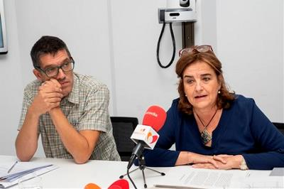 Josetxo Cerdán y Belén Ruiz en la mesa del CERMI sobre accesibilidad al cine