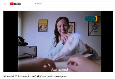 Imagen del vídeo conmemorativo de los 40 años de Fiapas