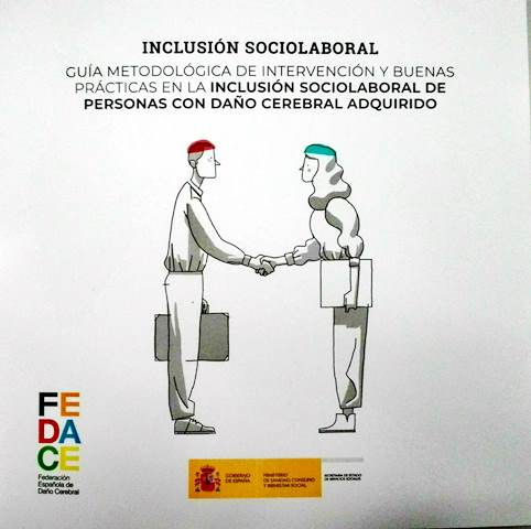 Portada de la 'Guía metodológica de intervención y buenas prácticas en la inclusión sociolaboral de personas con Daño Cerebral Adquirido (DCA)'