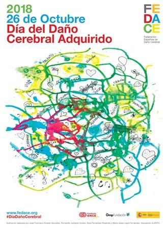 Cartel del Día del Daño Cerebral ADquirido - 26 de octubre de 2018