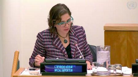 Catalina Devandas, relatora especial de los derechos de las personas con discapacidad de Naciones Unidas