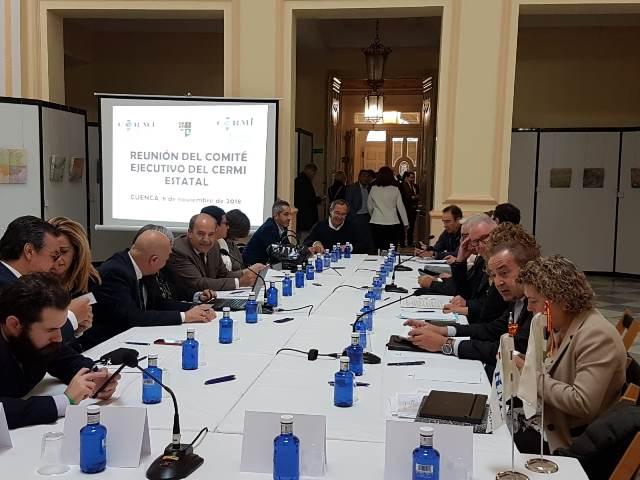 Un momento de la reunión celebrada en la Diputación de Cuenca.