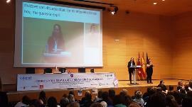 Ana Peláez, vicepresidenta ejecutiva de la Fundación CERMI Mujeres durante la ponencia marco del II Foro Social de Mujeres y Niñas con Discapacidad