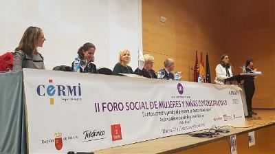 Imagen de la apertura del II Foro de Mujeres y discapacidad.