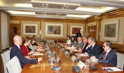Imagen del encuentro entre la Plataforma del Tercer Sector y el Ministerio Sanidad, Consumo y Bienestar Social