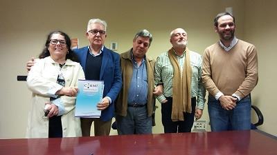 Imagen del nombramiento de Modesto Agustín Díez Solís como nuevo presidente de CERMI Extremadura