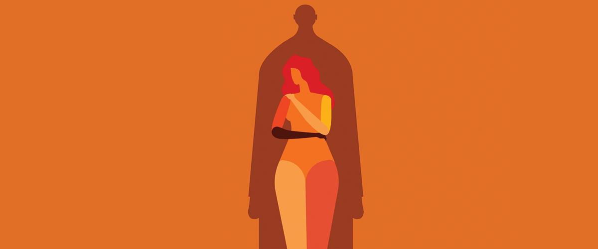 """Ilustración de la página interactiva de ONU Mujeres titulada """"Violencia contra las mujeres: Hechos que todo el mundo debe conocer"""". Imagen: ONU Mujeres."""