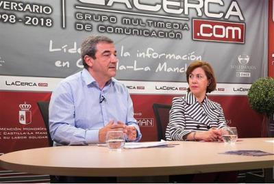 Cristina Gómez y José Antonio Romero, presidenta y gerente del CERMI CLM respectivamente