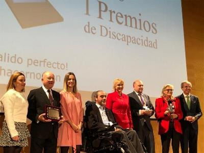 El Cermi Región de Murcia premiado como mejor institución en los I Premios de discapacidad Región de Murcia en el día de la discapacidad
