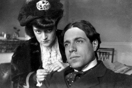 Eugenio d'Ors con su esposa María Pérez