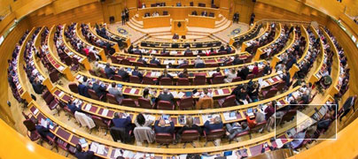 Imagen de un pleno celebrado en el Senado.