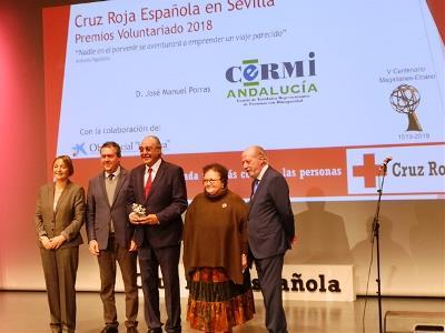 CERMI Andalucía recibe uno de los 'Premios Voluntariado 2018' de la Cruz Roja Española en Sevilla