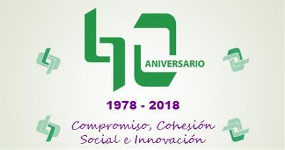 Imagen de la web del Imserso sobre los 40 años de aniversario del organismo
