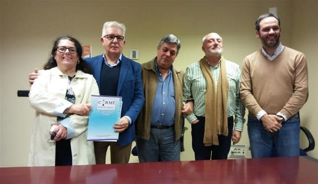 Modesto Díez, nuevo presidente de CERMI Extremadura, junto al resto de actuales responsables de la entidad