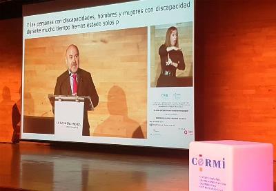 El presidente del CERMI, Luis Cayo Pérez Bueno, en la entrega del 'Premio cermi.es 2018' a la Casa Encendida de la Fundación Montemadrid