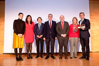 Foto de familia en la entrega del 'Premio cermi.es 2018' a la Casa Encendida de la Fundación Montemadrid