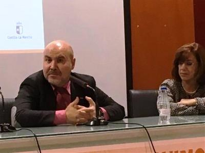El presidente del CERMI, Luis Cayo Pérez Bueno en el encuentro 'Construimos el futuro, mejorando el presente', que conmemora el 20 aniversario de CERMI Castilla-La Mancha