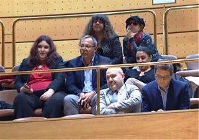 Representantes del CERMI, en la votación del Senado.
