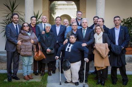 Representantes del CERMI en la Junta de Extremadura.