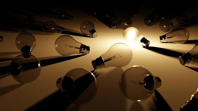 Bombillas con y sin luz