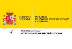 Ministerio de Sanidad, Servicios Sociales e Igualdad. Por solidaridad social. Otros fines de interés social