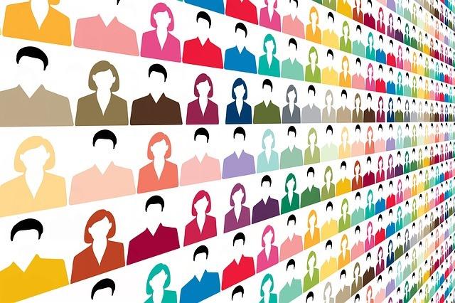 Ilustración que simula un amplio listado de personas