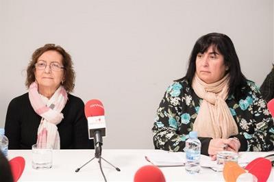Manuela Carrión, presidenta de SUPPO, y Mayte Gallego, presidenta de Femaden, en la mesa CERMI La soledad, la exclusión más terrible
