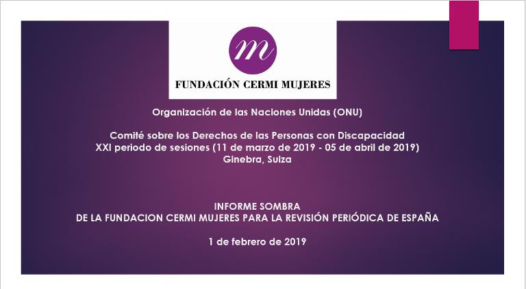 Informe Sombra de Fundación CERMI Mujeres