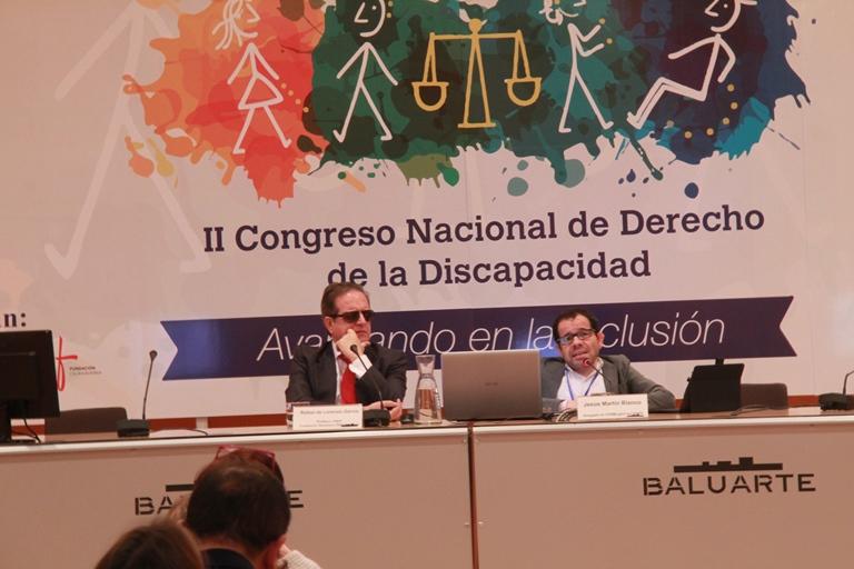 Jesús Martín y Rafael Lozano en el II Congreso Nacional del Derecho de la Discapacidad