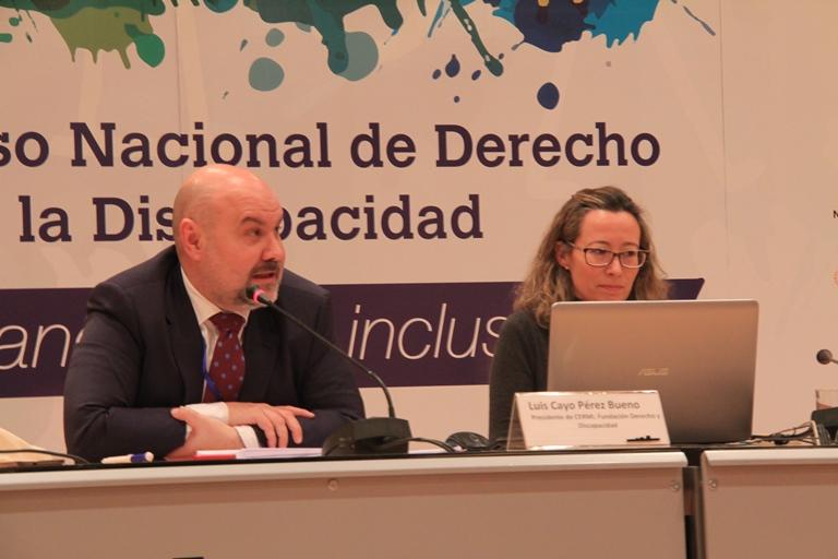 Mesa Inés de Araoz y Luis Cayo Pérez dentro del II Congreso Nacional del Derecho de la Discapacidad
