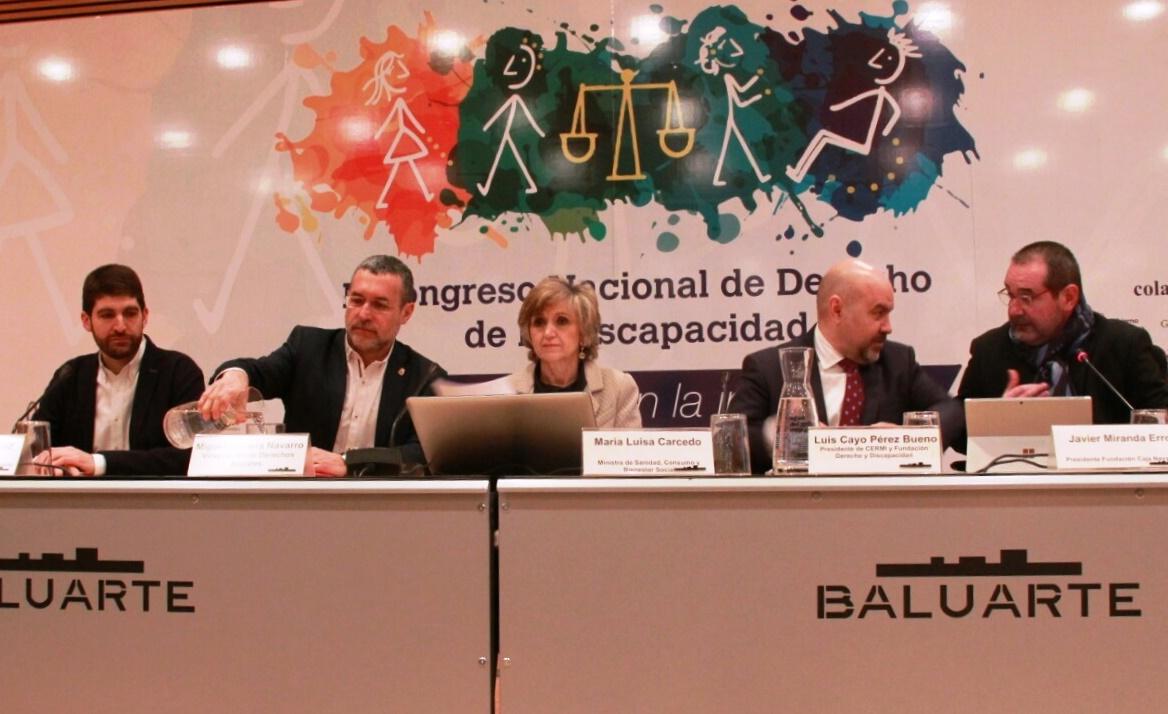 Mesa inaugural del II Congreso NAcional de Derecho de la Discapacidad
