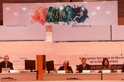 Imagen de la clausura del Congreso Nacional de Derecho de la Discapacidad