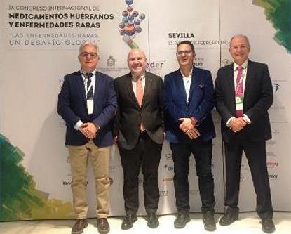 El presidente del CERMI, Luis Cayo Pérez Bueno, en su intervención en el IX Congreso de Medicamentos Huérfanos y Enfermedades Raras