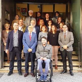 Foto de familia de la nueva junta directiva de CERMI Castilla y León