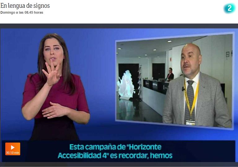 Momento del programa de la 2 'En lengua de signos'