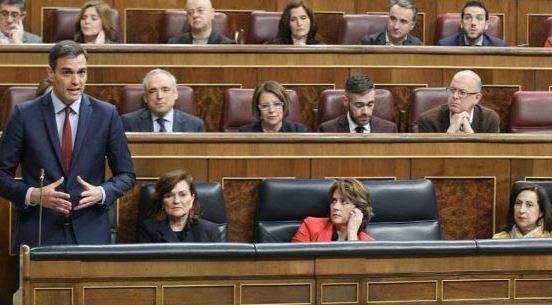 El presidente del Gobierno, Pedro Sánchez, en la sesión de control al Ejecutivo en el Congreso de los Diputados esta semana (Imagen de la web del PSOE)
