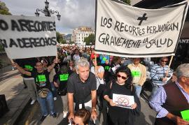 Manifestación del CERMI Asturias contra los recortes e impagos
