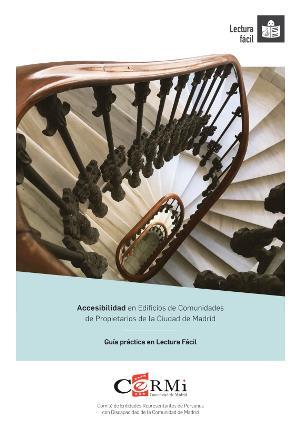 Portada de la guía práctica en lectura fácil titulada 'Accesibilidad en edificios de Comunidades de Propietarios de la Ciudad de Madrid'