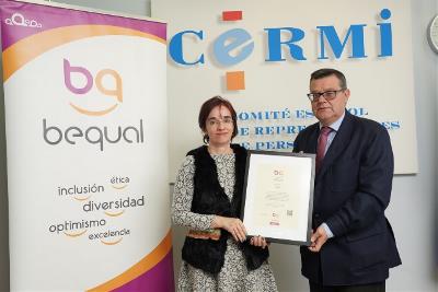 El CERMI recibe el Sello Bequal Premium, que certifica su política de Responsabilidad Social Corporativa en relación con la discapacidad