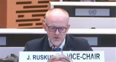 Jonas Ruskus, uno de los relatores del Comité de la ONU para la Convención sobre Discapacidad, en el examen de España