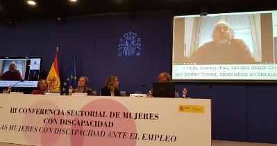 Stefan Tromel durante su videoconferencia.