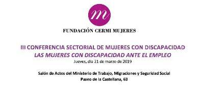 Logo de la III Conferencia Sectorial de Mujeres con Discapacidad.