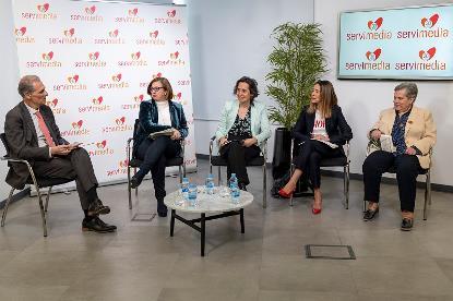 Debate con González Huesa, Martínez, Alonso, Medina y Casanova (de izq. a dcha.)