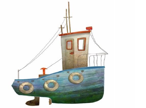 Ilustración del barco del capitán Ahab de la versión 'Moby Dick, sin límites'