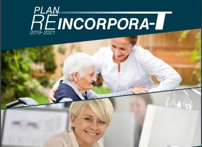 Imagen de la portada del  'Plan Reincorpora-t' para el periodo 2019-2021