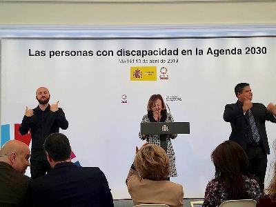 Un instante del acto sobre las personas con discapacidad de la Agenda 2030