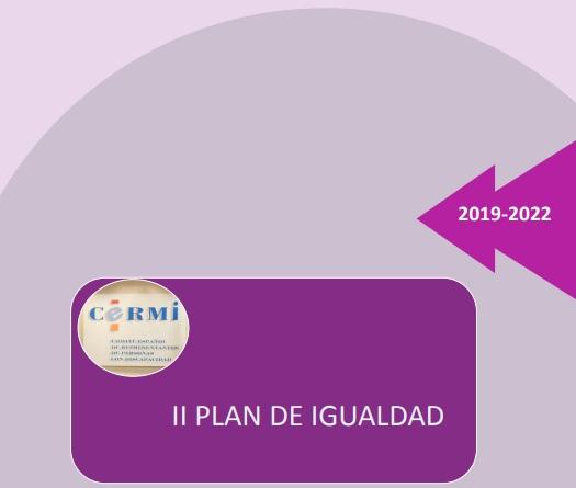 Portada del documento II Plan de Igualdad del CERMI 2019-2022