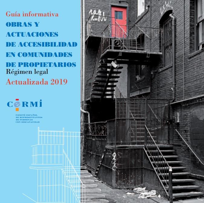 Portada de 'Obras y actuaciones de accesibilidad en comunidades de propietarios. Régimen Legal 2019'